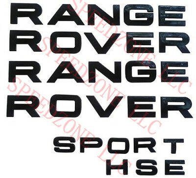 3PCS Silver 3M LETTERS HOOD OR TRUNK TAILGATE RANGE ROVER /& SPORT HSE LOGO