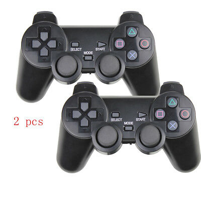 2x For Sony PS2 2.4G Wireless Twin Shock Game Controller Joystick Joypad Gift