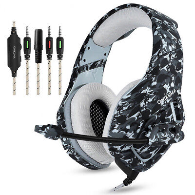ONIKUMA 3.5mm K1 Mic Gaming Headset Stereo Headphones for PC Laptop PS4 Xbox One