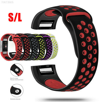 DAF5 For Fitbit Charge 2 HR Replacement Silicone Bracelet WristBand Strap L / S
