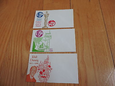 Vtg Mickey Mouse Disney 1966 DISNEYLAND Souvenir Death Envelopes Walt RARE
