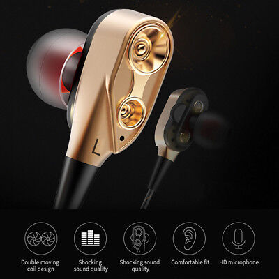 3.5mm In ear Stereo Headphone Headset Earphone Earbuds with Mic Super Bass Music
