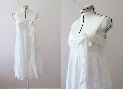 Review White Cotton Sundress Size 10  Free Postage for 3 + items