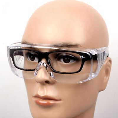 Eye Protection Lab Outdoor Eyewear Clear Protective Safety Goggles Glasses New!