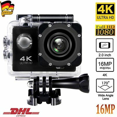 4K Aktion Cam Sport Kamera Helmkamera WiFi Wasserdicht Camera HD 16MP 30FPS DHL