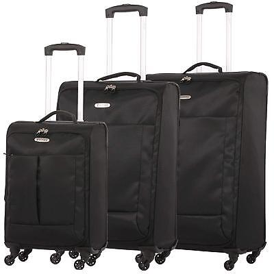5 Cities Ultra Lightweight 4 Wheel Hand Cabin & Hold Luggage Suitcase & Set