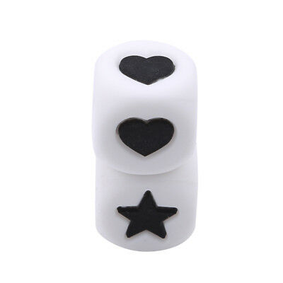 Heart-Shaped Star Dice Beads Baby Silicone Teether Pacifier Chain Toys New AT