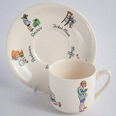ASHTEAD No 4 & No 5 Christopher Robin The Engineer Cup & Saucer Superb Condition