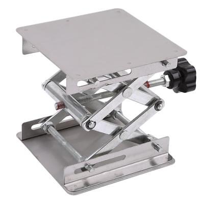 Silver Stainless Steel Lab-Lift Lifting Platform Stand Rack Scissor Jack Rack T