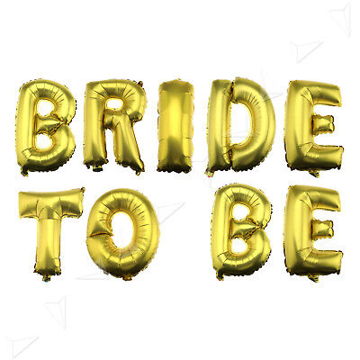"""16"""" BRIDE TO BE Foil Letter Balloon for Wedding Bridal Hen Fancy Party Decor"""