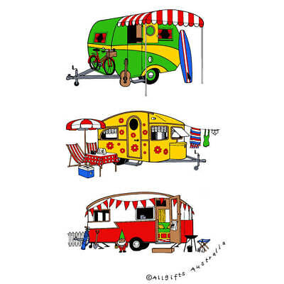 Retro Caravan Tea Towel