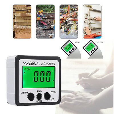 Magnetic Digital Level Box Protractor Angle Finder Gauge Bevel nclinometer
