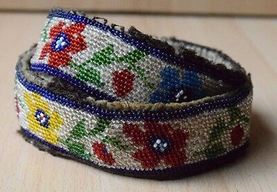 Traditional Collectible Antique Native North American Beaded Handmade Belt #16