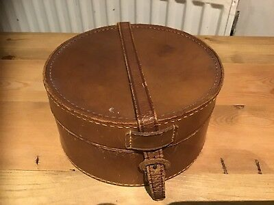 Antique Leather Collar Box Complete with Collars - Vintage Display Collectors