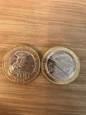 2 Two Pound Coins Of The First World War