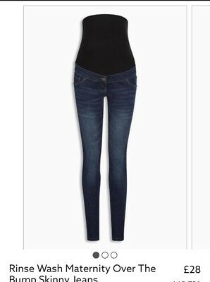 Womens Next Maternity Over The Bump Jeans Size 14