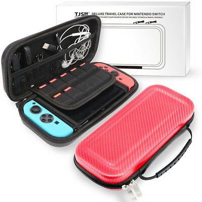 Nintendo Switch Portable Bag Hard Carbon Travel Fiber Case Carrying Pouch Shell