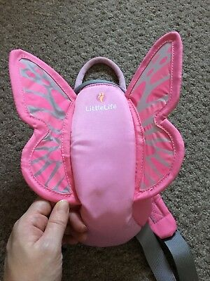 Little life pink Butterfly Reins Backpack