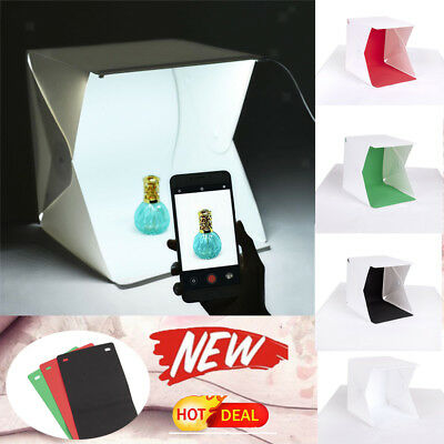 Mini Box Photography Backdrop Portable Photo Studio Lighting LED Light Room Tent