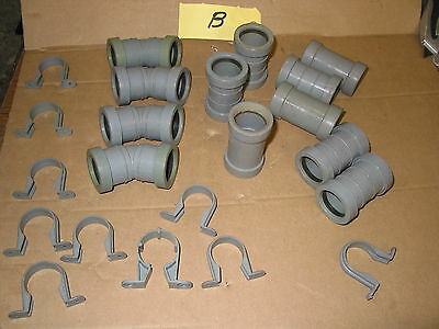 """32Mm Waste Pipe Fittings Mainly Bartol Push Fit Waste Pipe 1 1/4"""" Fittings  (B)"""