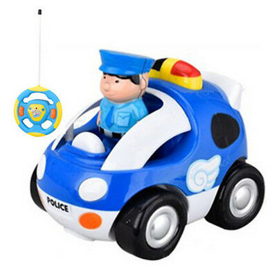 Cartoon RC Baby Car Radio Control Music Toy For Toddlers Kids Children Gift