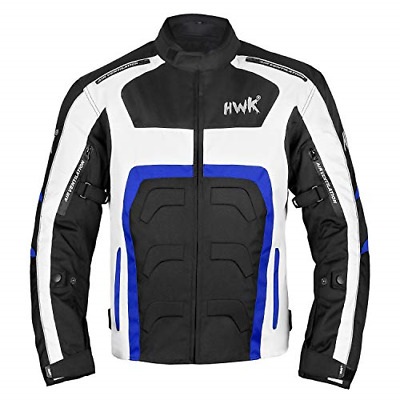 Textile Motorcycle Jacket Motorbike Jacket Breathable CE ARMORED WATERPROOF Blue