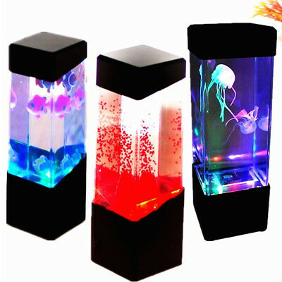 LED light Glowing Marine Jellyfish Aquarium Fish Tank office Ornament Home Decor