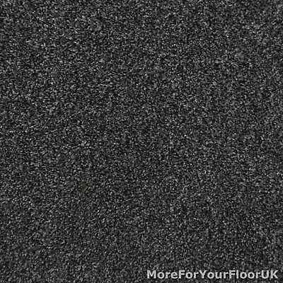 Charcoal Grey Liberty Heathers Twist Carpet Cheap Flecked Bedroom Felt Backed 4m