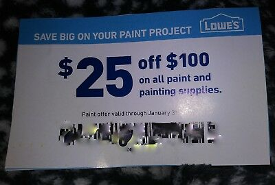 Lowes Coupon $25 Off $100 On All Paint And Supplies