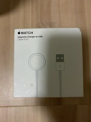 Original GENUINE Apple Watch Charging Cable 2M Magnetic Dock Charger Series 1234