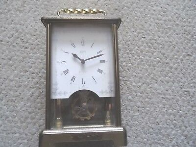 Vintage Schatz 8 Day Brass Carriage Clock, Made In Germany, For Spares & Repairs
