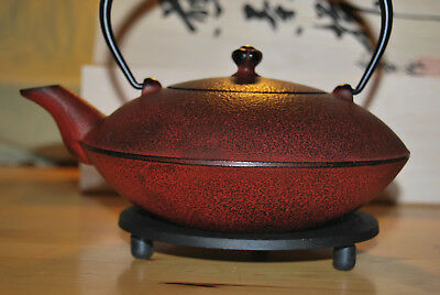 Japanese teapot + stand, cast iron traditional craftsmanship, BRAND NEW!