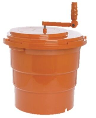 "HUBERT 5 gal Orange Plastic Salad Spinner - 17 3/4"" Diameter x 19"" Height"