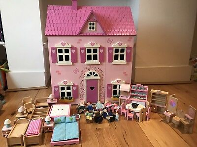 Early Learning Centre Rosebud Wooden Dolls House EXCELLENT CONDITION