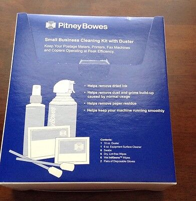 Pitney Bowes small business cleaning kit WITH DUSTER