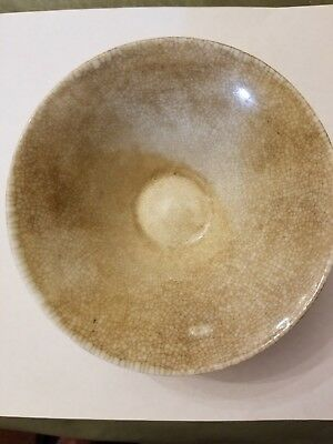 Old Chinese Tan Crackle Glaze Bowl