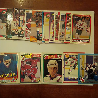 New Jersey Devils Lot of 25 cards-70's/80's Cards, Devils Heros, Rookie Cards