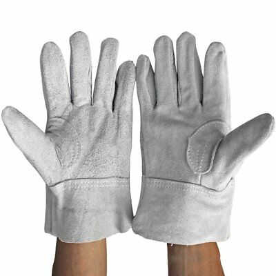 Fireproof Durable Cow Leather Welder Gloves Comfortable Anti-Heat C9