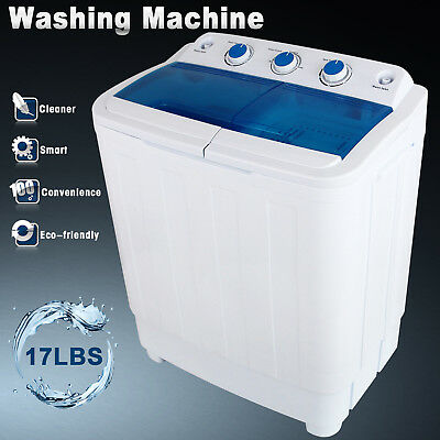 7.6KG Portable Mini Compact Twin Tub Washing Machine Washer Laundry Spin Dryer