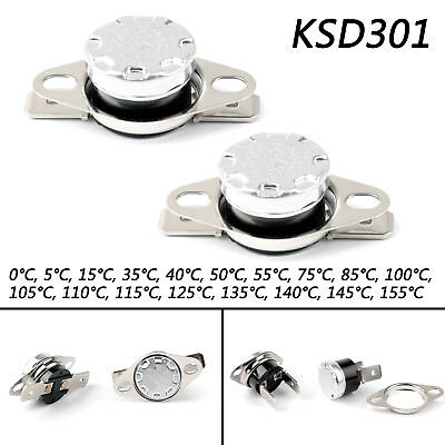 KSD301 0℃ to 155℃ Temperature Control Switch Thermostat 0-155 Celsius N.C. AZ