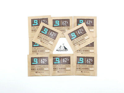 Boveda RH 62% 8 gram Humidity 2 Way Control Humidor, (10 Humidipacks)