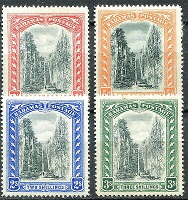 Bahamas 1901/03 Queens Staircase issues, SG 58 - 61, Mint Hinged, CV £95