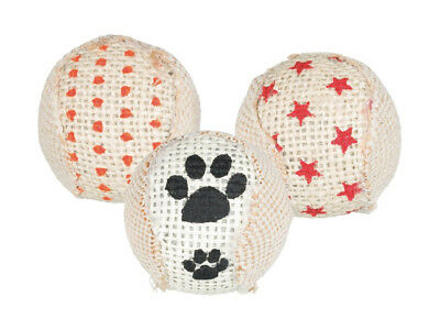 Set di palline in Juta Trixie gioco gatto 3pz assortiti