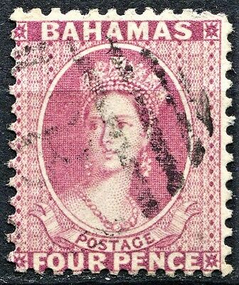 Bahamas 1882 issue, SG 41, 4d Rose, Perf 12, Wmk CA, used, CV £45
