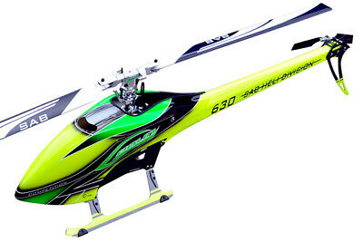 Sg632 - Sab Goblin 630 Competition Yellow/green  With Main And Tail Blades