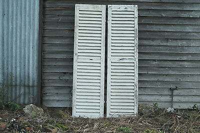 Large pair of antique vintage French shutters shabby chic architectural salvage