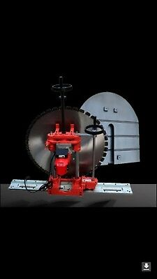 300mm depth Concrete wall saw, 800mm diamond blade, larger size saws available.