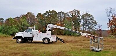 2000 GMC C6500 40' Cable Placing Bucket truck boom Reel loader UNDER CDL!