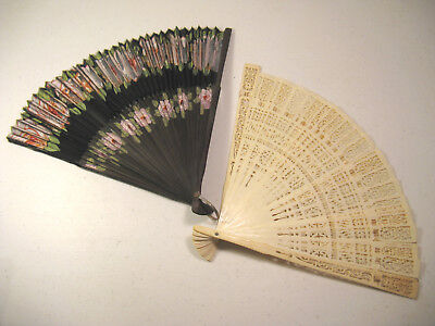 Vintage Occupied Japan Hand Painted Fan, Stamped