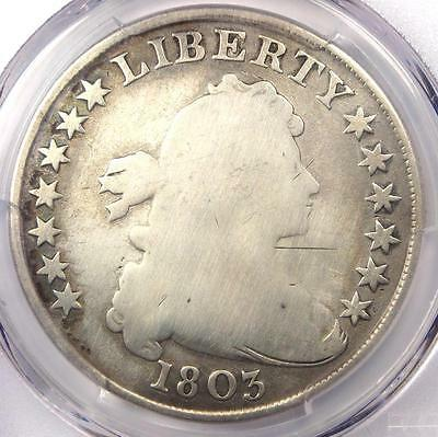 1803 Draped Bust Silver Dollar $1 - Certified PCGS Good Details - Rare Coin!